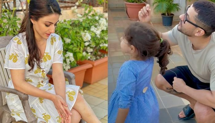 Inaaya Naumi Kemmu Flies A Kite With Daddy, Kunal Kemmu, Mommy, Soha Records Their Cute Moment