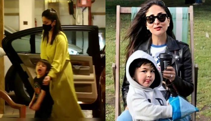 Taimur Ali Khan Grows Protective Of Pregger Mom, Kareena Kapoor Khan, Yells At The Paps [Video]
