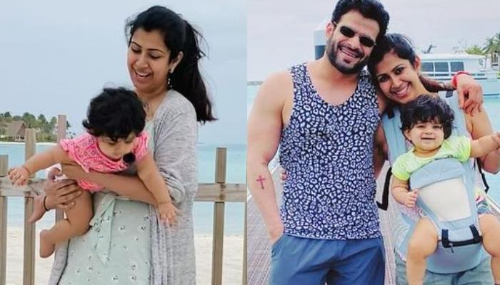 Ankita Bhargava Shares An Adorable Pool Picture With Her Baby, Mehr From Their Maldives Vacation