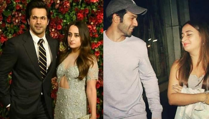 Varun Dhawan Poses With His Wife, Natasha Dalal, Her Silver Kalire And White Chooda Steals The Show