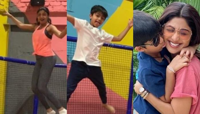 Shilpa Shetty Kundra Enjoys On A Trampoline With Viaan Raj Kundra, Proving Why Age Is Just A Number