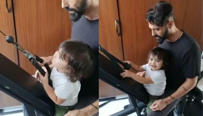 Arjun Rampal's Son, Arik Joins Him In The Gym, Looks Happy Pulling Weights With His Daddy [Video]