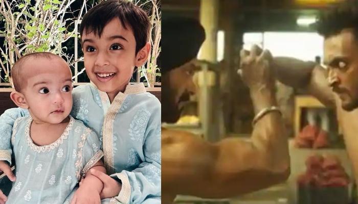 Ahil Sharma And Ayat Sharma Visit Daddy, Aayush Sharma On Sets Of Mama, Salman Khan Starrer, 'Antim'