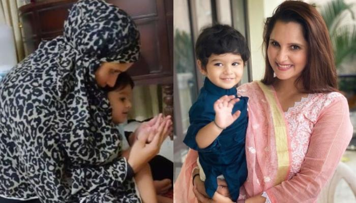 Sania Mirza's Baby Boy, Izhaan Mirza Malik Offering 'Namaz' With His 'Amma' Is A Sight To Behold