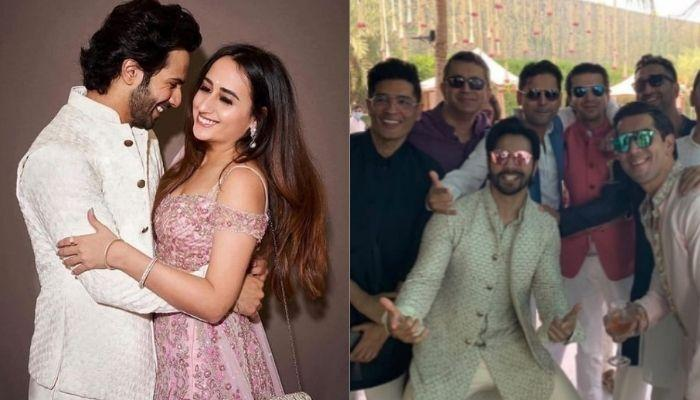 Varun Dhawan's 'Dulhaniya' Natasha Dalal's First Picture From Their Sangeet Ceremony, Looks Gorgeous