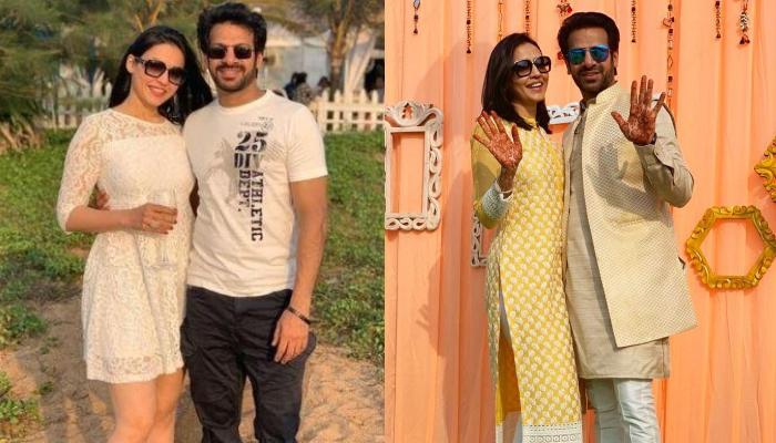 Karan Veer Mehra And His Fiancee, Nidhi Seth Share Romantic Pictures From Their 'Sangeet' Ceremony