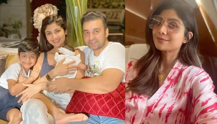 शिल्पा शेट्टी के पति राज कुंद्रा दोनों बच्चों को गोद में लिए आए नजर, एक्ट्रेस ने शेयर की फोटो