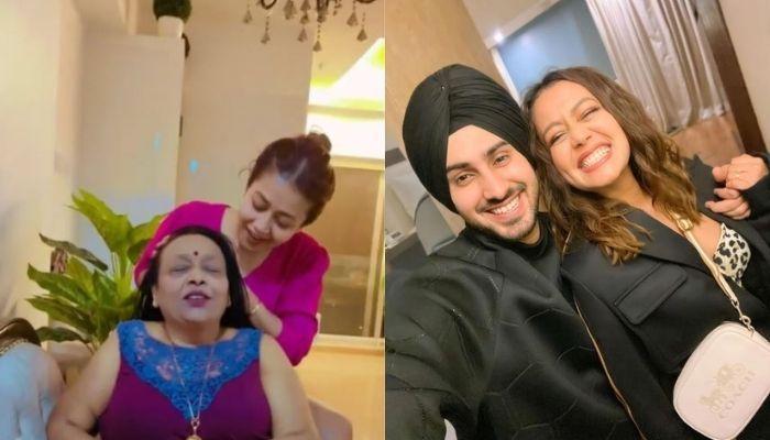 नेहा कक्कड़ ने मायके में अपनी मां के सिर पर किया 'चम्पी', पति रोहनप्रीत ने कैप्चर किया खास मोमेंट