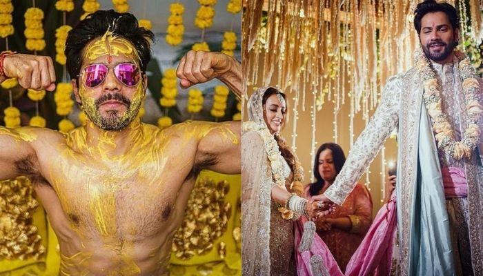 Varun Dhawan Shares 'Haldi' Pictures, His Squad's Twinning T-shirts Have An Interesting Twist To It