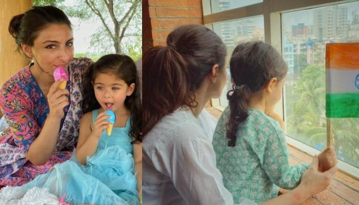 Soha Ali Khan Shares Glimpses Of Inaaya's Republic Day Celebration, Their Pink Kaftan Is Unmissable
