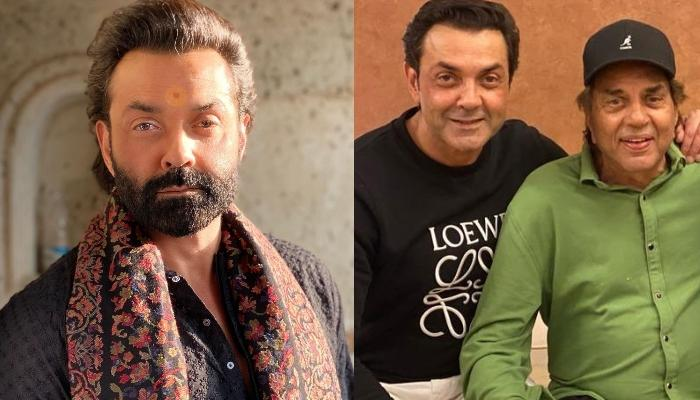 Bobby Deol's Unseen Childhood Picture With 'Papa', Dharmendra Proves That He Has Been A Pampered Kid