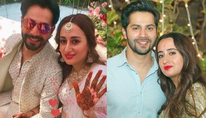 Varun Dhawan And Natasha Dalal Look Adorable As They Pose With Their In-Laws On Their 'Sangeet'