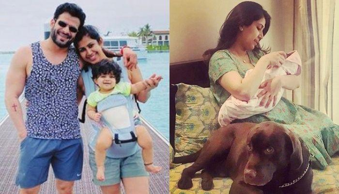 Ankita Bhargava Gets A Love-Filled Kiss From Daughter, Mehr In This Candid Photo With Their Pooch