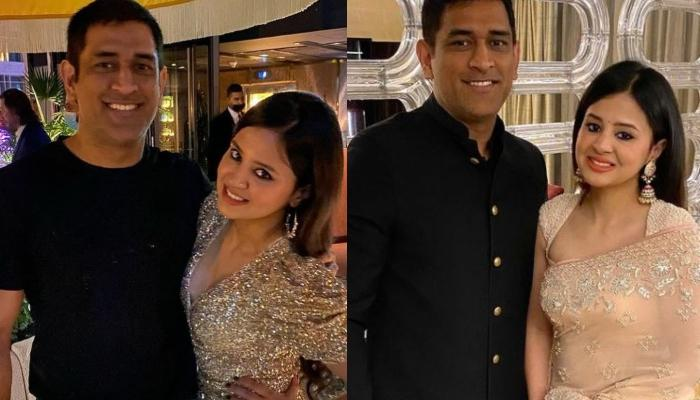 Sakshi Singh Dhoni And Mahendra Singh Dhoni's Candid Moment, Guess Who Photobombed Their Picture?