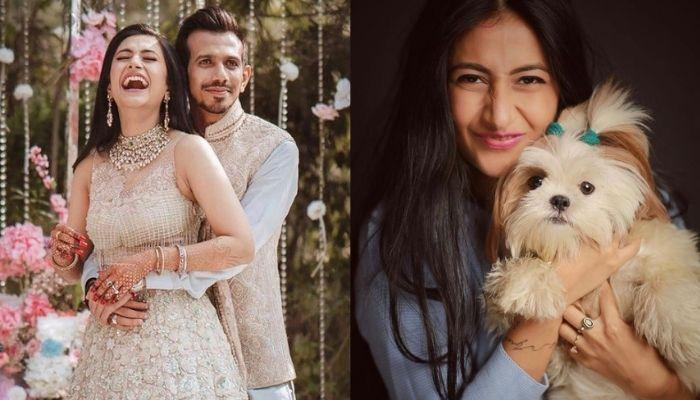 Yuzvendra Chahal Gives A Grand Welcome To His Wife, Dhanashree Verma With Their Two Pooches