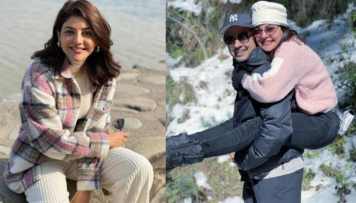 Kajal Aggarwal Shares Romantic Pictures With Hubby, Gautam Kitchlu From Their Himalayan Trek