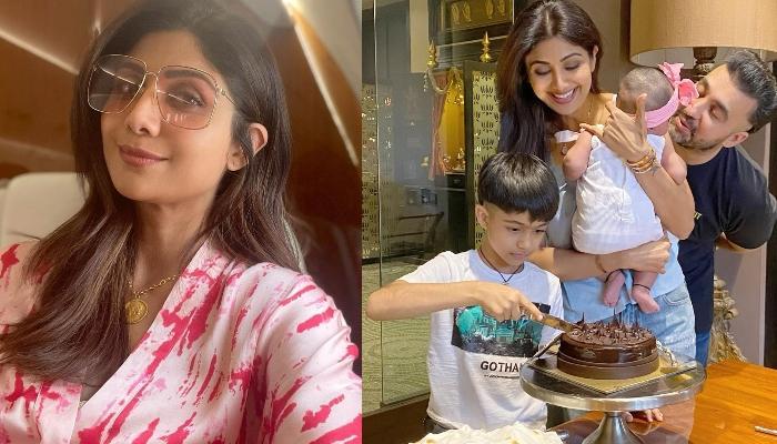 Shilpa Shetty Kundra Gets Clicked With Hubby, Raj Kundra And Kids, Viaan And Samisha