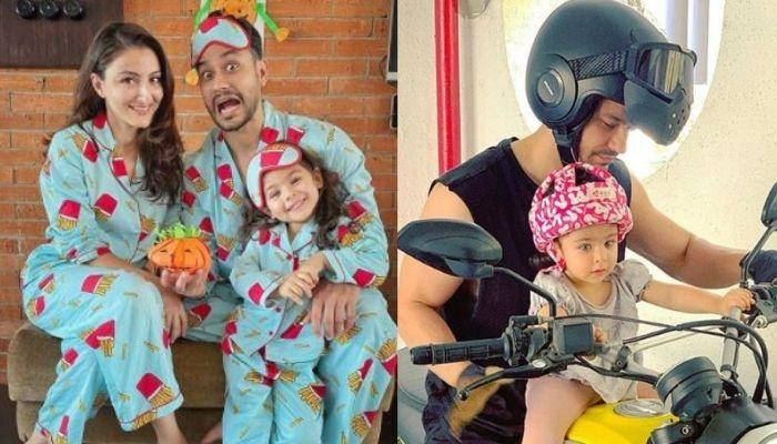Kunal Kemmu Takes His Wife, Soha Ali Khan And Daughter, Inaaya Naumi Kemmu On A Bike Ride