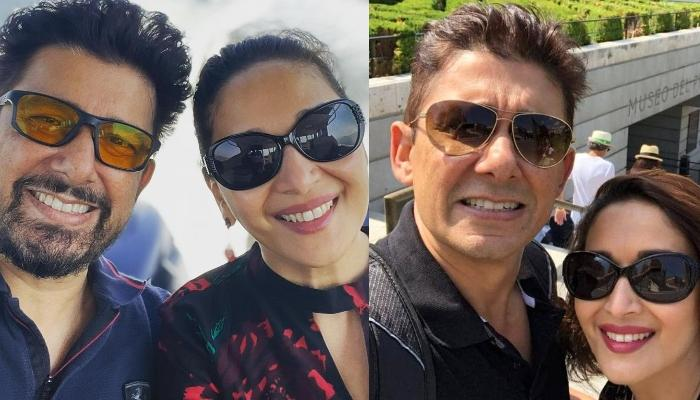 Madhuri Dixit's Hubby, Shriram Nene Shares A Pouting Picture Of His 'Missus' From Their Vacation