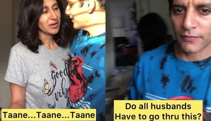 Karanvir Bohra Gets Endless 'Taane' From Wife, Teejay Sidhu As He Tries To Romance With Her [Video]
