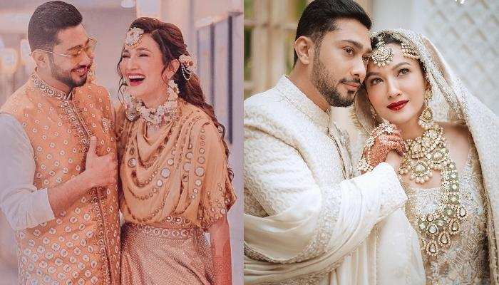 Gauahar Khan Looks Shyly At Hubby, Zaid Darbar Just After 'Nikah' Ceremony In This Unseen Video