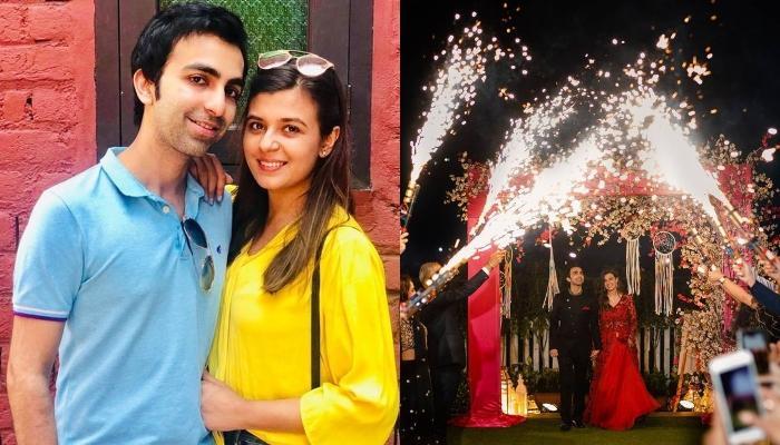 Badminton-Snooker Player, Pankaj Advani And Celebrity MUA, Saniya Shadadpuri's Sangeet Ceremony Pics