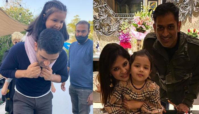 Mahendra Singh Dhoni And Ziva Singh Dhoni's Cute Moment From A Shoot Will Make You Miss Your Daddy