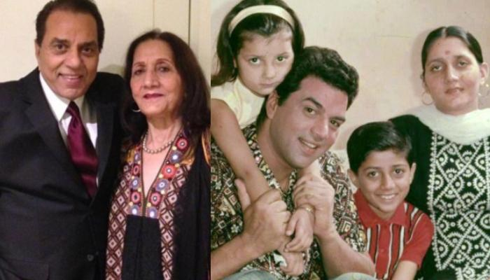 Unseen Picture Of Dharmendra With His First Wife, Parkash Kaur And Their Daughter Is Unmissable