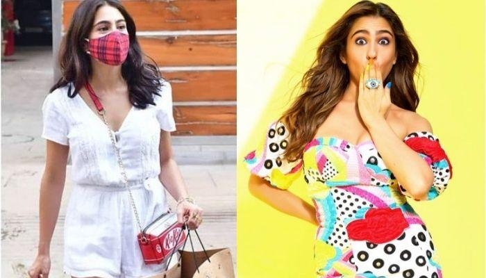 Sara Ali Khan Opts For A Funky Yet Chic 'KitKat' Sling Bag For A Brunch And It Is Unbelievably CHEAP