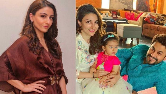 Soha Ali Khan's Living Room Has A Big Wall Size Painting Of Her Own, She Shares A Glimpse Of It