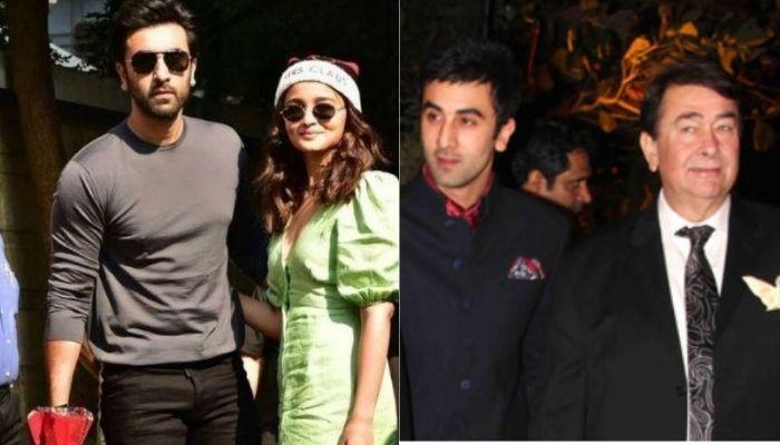 Ranbir Kapoor And Alia Bhatt Twin In Black For Randhir Kapoor's Birthday Bash At The Kapoor Mansion