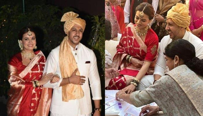 Inside Glimpses Of Dia Mirza And Vaibhav Rekhi's Wedding: From Registration To The 'Varmala' Ritual