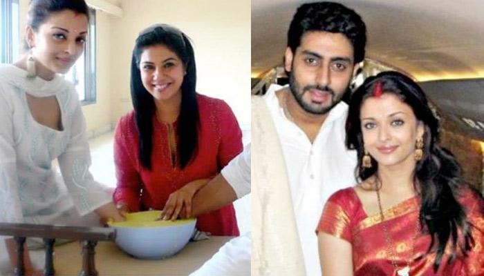 Unseen Picture Of Abhishek Bachchan And Aishwarya Rai Creating Lifetime Memory A Day Before Wedding
