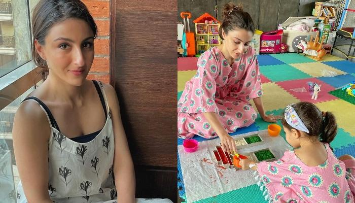 Soha Ali Khan Spends Some Quality Time With Her Baby Girl, Inaaya Naumi Kemmu In The City