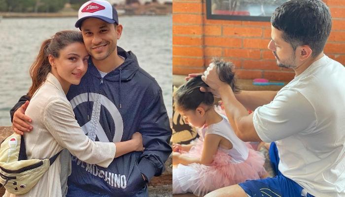 Inaaya Naumi Kemmu Enjoys Pool Time With Daddy, Kunal Kemmu, The Daddy-Daughter Duo Looks Cute