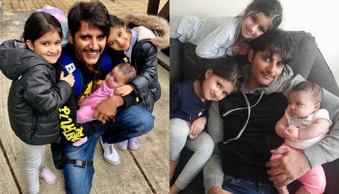 Karanvir Bohra Celebrates Easter With Daughters, Bella, Vienna And Gia,  Twins In Bunny Ear Hairbands