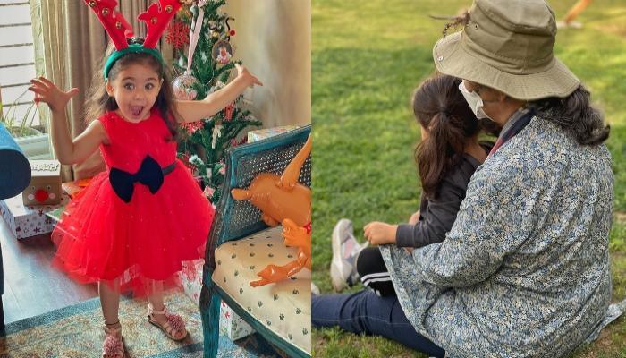नानी शर्मिला टैगोर के साथ मस्ती करती दिखीं इनाया, सोहा अली खान ने शेयर की फोटो
