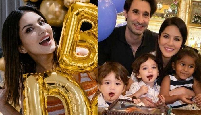 Sunny Leone Receives Priceless Gifts From Kids, Nisha, Asher And Noah On Her 40th Birthday [VIDEO]