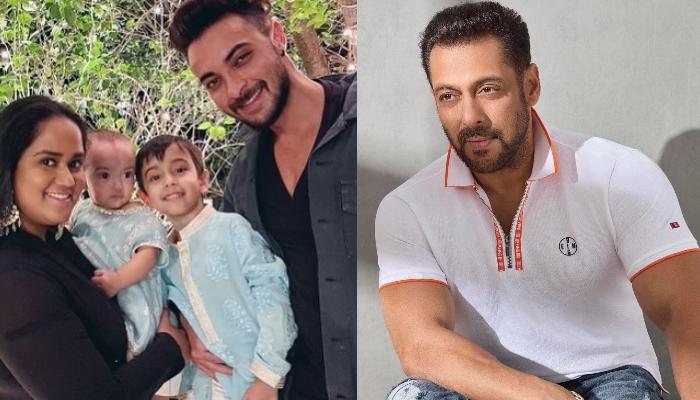 Arpita Khan Sharma With Kids, Ahil And Ayat Arrive At Salman Khan's House For Eid Celebration