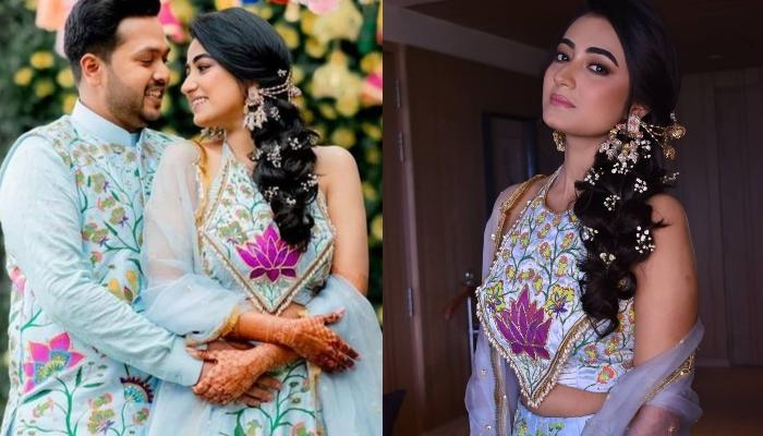 Bride Hand-Painted Her Own Unique Mehendi Lehenga, Took Her One-Year To Finish The Designing