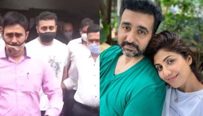 Raj Kundra Trolled For Showing Victory Sign Outside Jail, Shilpa Shetty Resigns From His Company