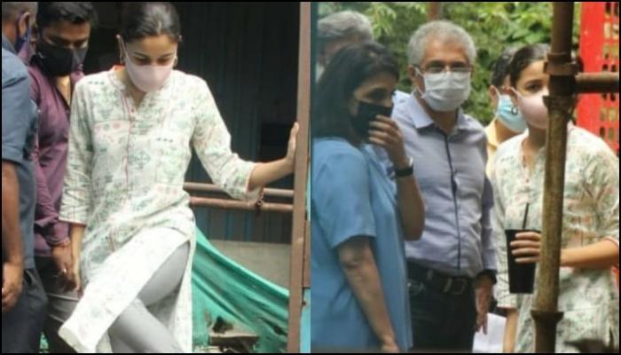 Alia Bhatt Hugs Neetu Kapoor As They Inspect Ranbir Kapoor's Bungalow While He Shoots In Delhi