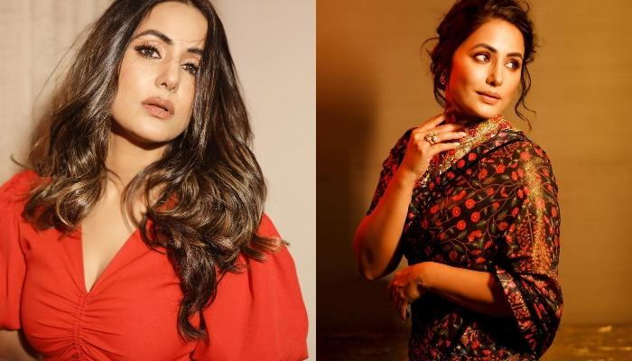 Hina Khan Wore A Vintage Saree Which Costs Rs 50,000, Her Unique Blouse Design Is A Must Try