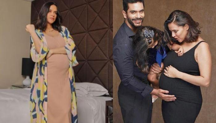Neha Dhupia Caresses Her Baby Bump In Stunning 'Pool Party Of Two' Pictures, Aced A Black Monokini