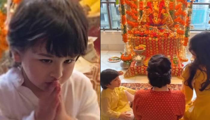 करिश्मा कपूर के घर दिखा 'तैमूर' का मस्ती भरा अंदाज, गणपति पूजा के लिए इकट्ठा हुआ था परिवार