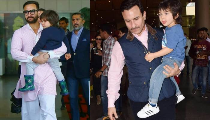 जब अब्बा सैफ अली खान के सामने बाहें फैलाकर खड़े हो गए तैमूर अली खान, सोशल मीडिया पर वायरल हुआ वीडियो