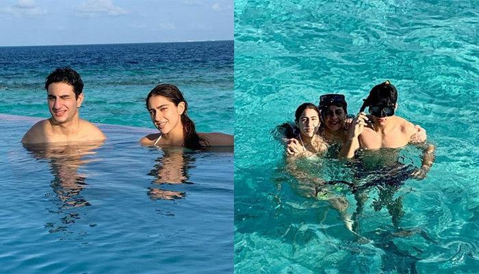 जलपरी बन समुंद्र में तैरती नजर आईं सारा अली खान, देखिए कैसे भाई इब्राहिम संग बनाए फनी फेस