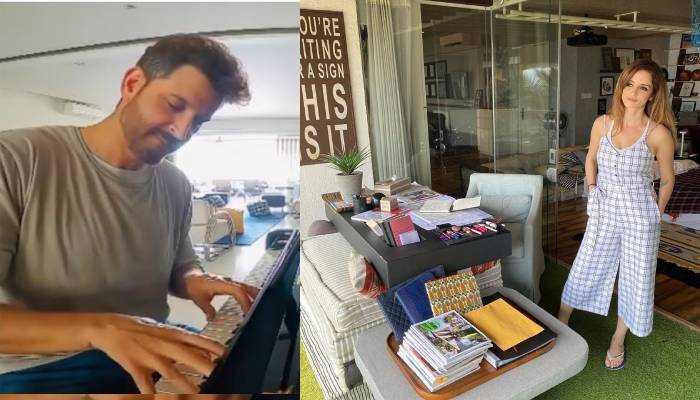 एक्टर रितिक रोशन ने पियानो बजाते हुए वीडियो इंस्टाग्राम पर किया शेयर, सुजैन खान भी दिख रहीं साथ