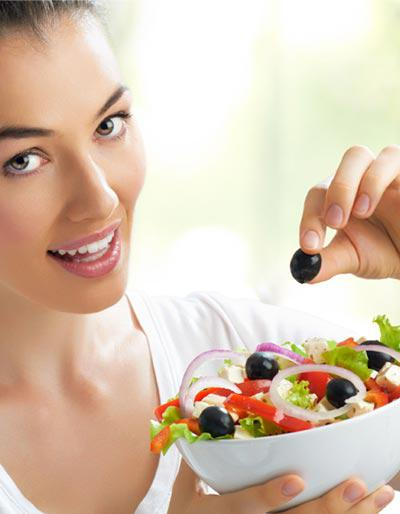 Salad: Eating a first course salad can reduce overall calorie intake at a meal by up to 12 percent.